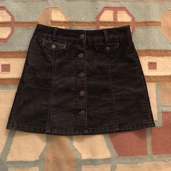 6ff449833 BDG Skirts | Corduroy Charcoal Mini Skirt | Poshmark
